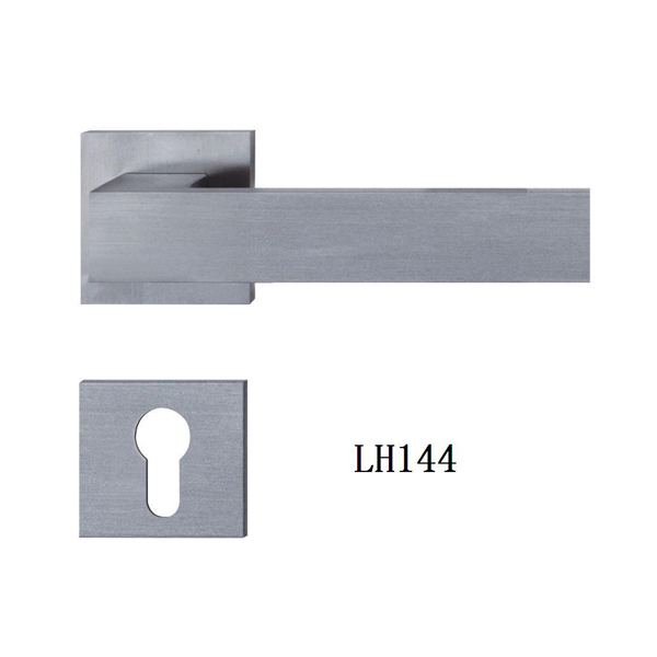Polish finish stainless steel solid level door handle