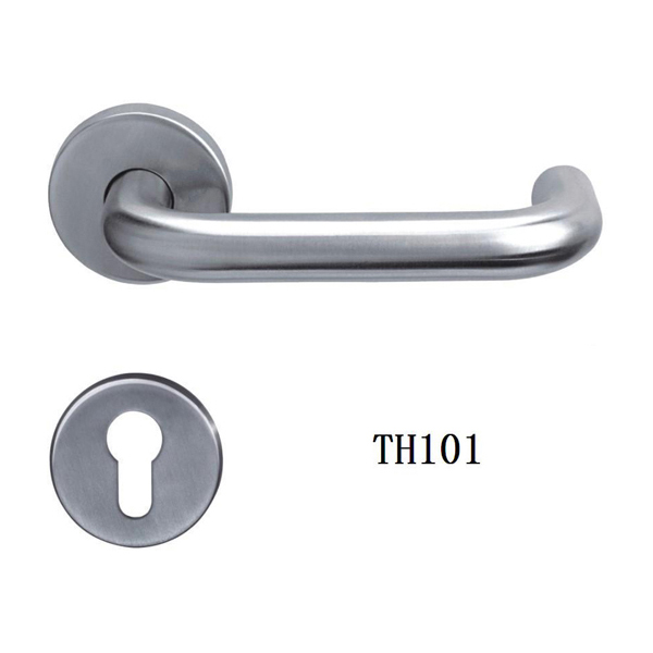 Stainless Steel Tube Lever Door Handle