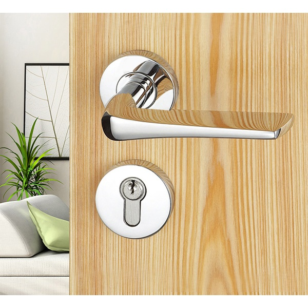 Stainless Steel Solid Mirror Door Handles
