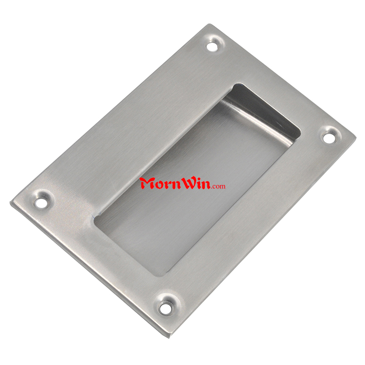 Satin 201 304 Square Stainless Steel Recessed Pocket Cup Pull Conceal  Cabinet Drawer Handle