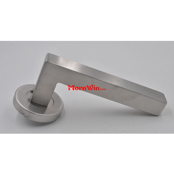 Hollow Stainless steel square door handle on square rose