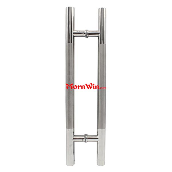 Hot Sale Back To Back Stainless Steel Glass Door Pull Handles H Shaped Door  Handles
